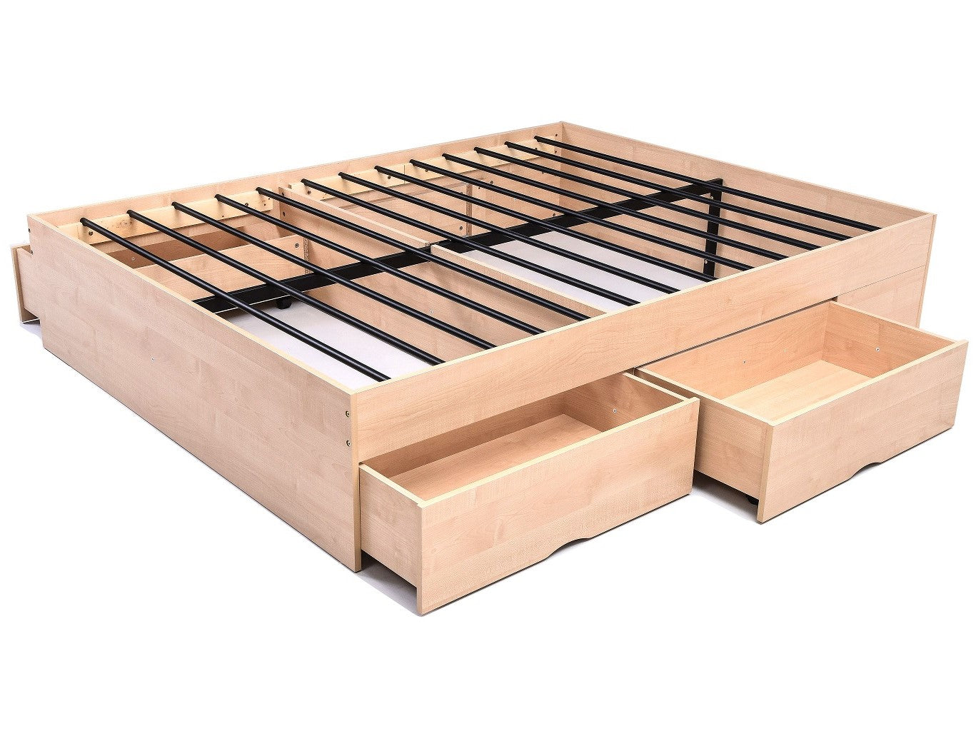 Bozz 4 drawers storage platform Bed, maple