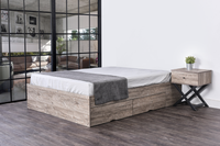 Bozz 4 drawers premium storage platform Bed, alaska oak