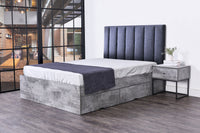 Dustin 4 drawers storage platform bed, iron slate