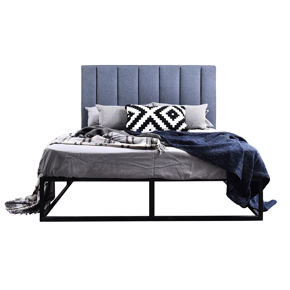 Dustin platform bed, grey