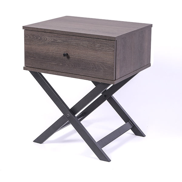 Minya bedside table, antico wenge