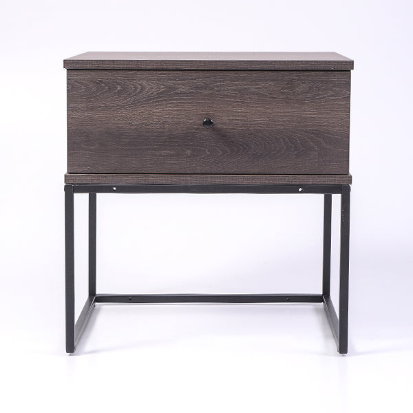 Morena bedside table, antico wenge