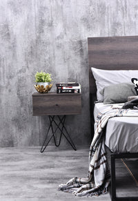 Susie bedside table, antico wenge
