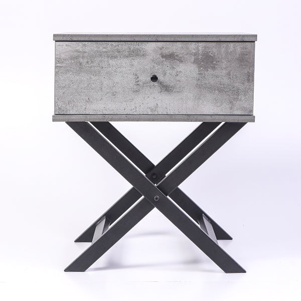 Minya bedside table, iron slate