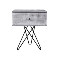 Susie bedside table, iron slate