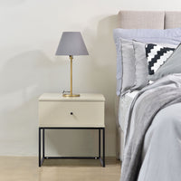 Morena bedside table, high gloss khaki