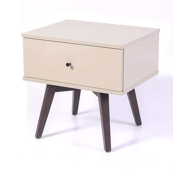 Miranda bedside table, high gloss khaki