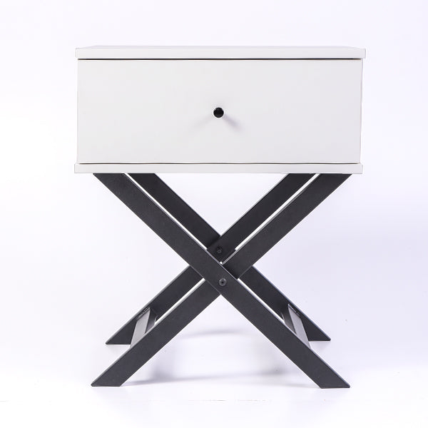 Minya bedside table, white