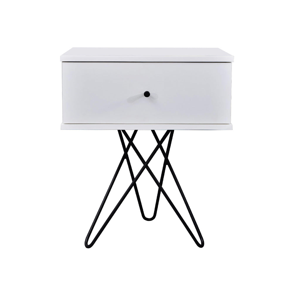 Susie bedside table, white