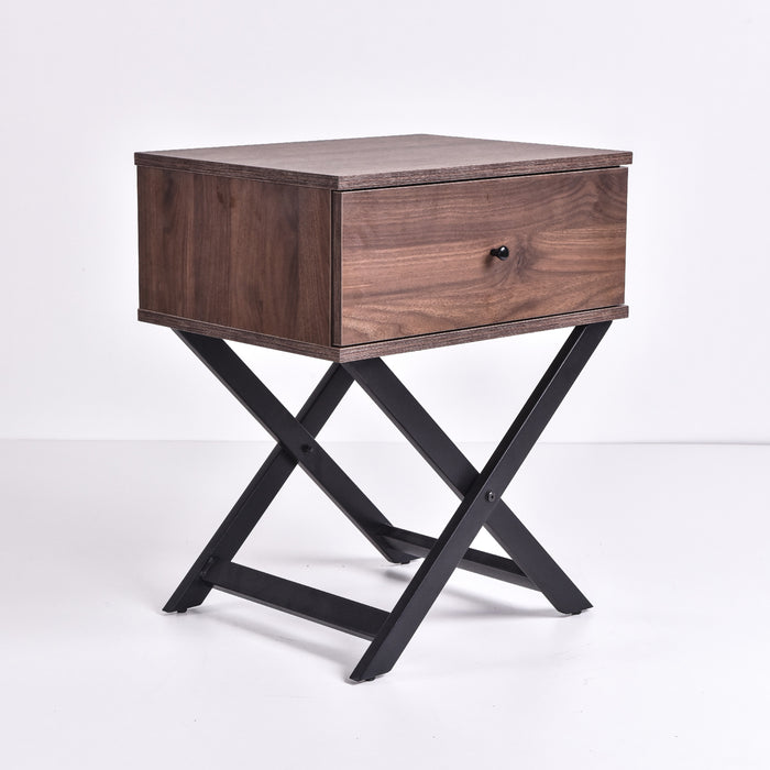 Minya bedside table, columbia walnut
