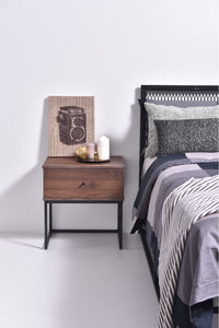 Morena bedside table, columbia walnut