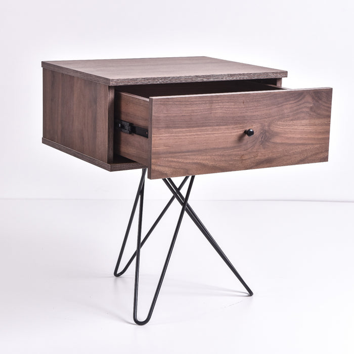 Susie bedside table, columbia walnut