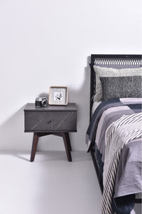 Miranda bedside table, grey stone