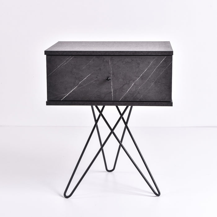 Susie bedside table, grey stone