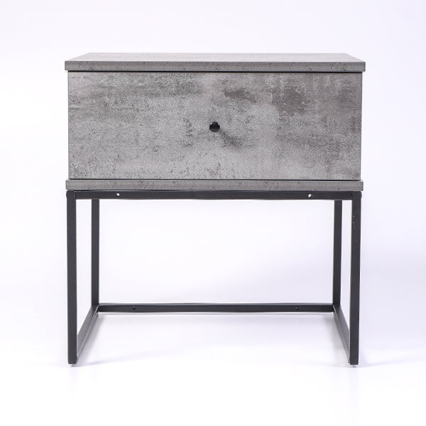 Morena bedside table, iron slate