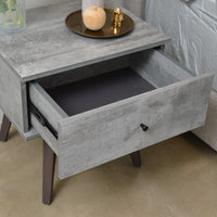 Miranda bedside table, iron slate