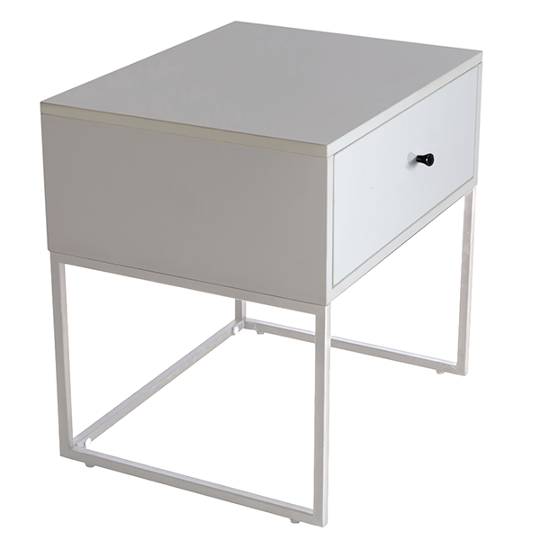 Morena bedside table, white