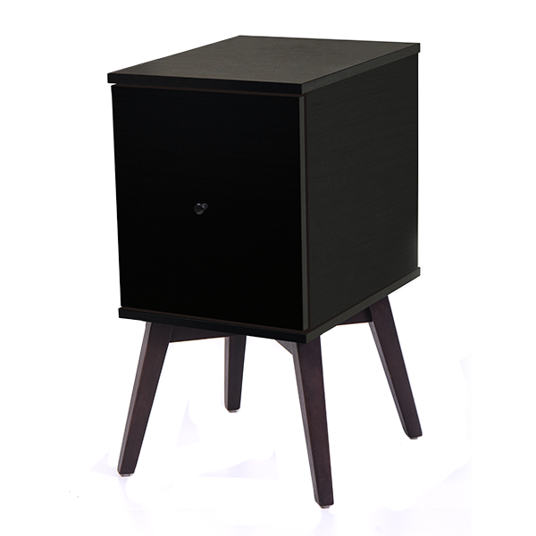 Gordon bedside table with door, black