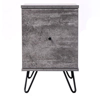 Marion bedside table with drawer, iron slate