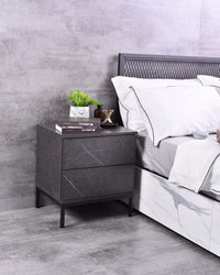 Kensei bedside table, Grey stone