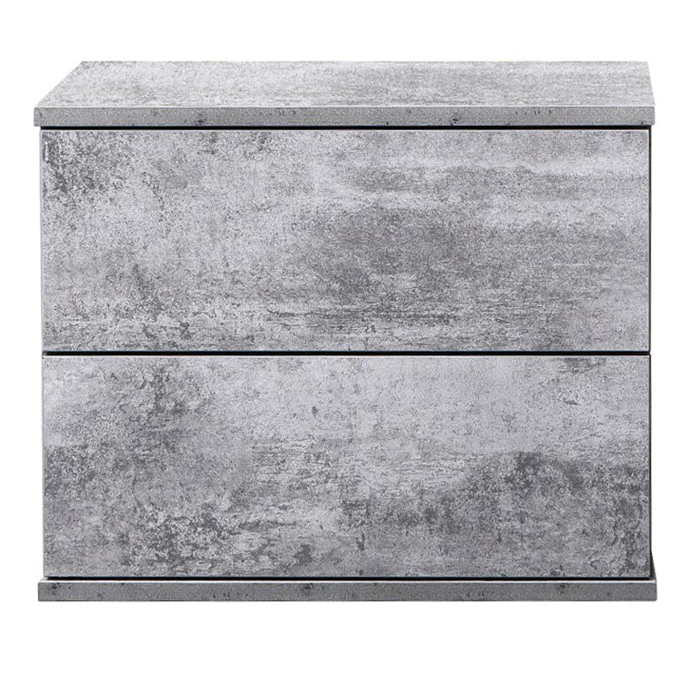 Jupiter bedside table, iron slate