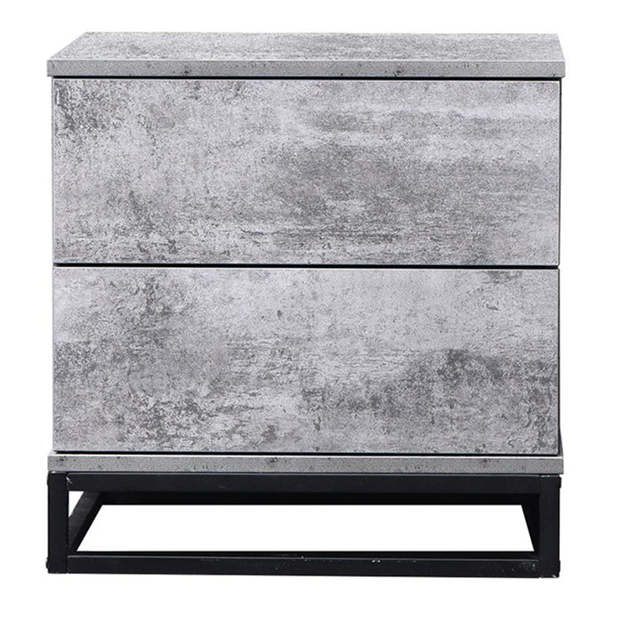 Margo bedside table, iron slate