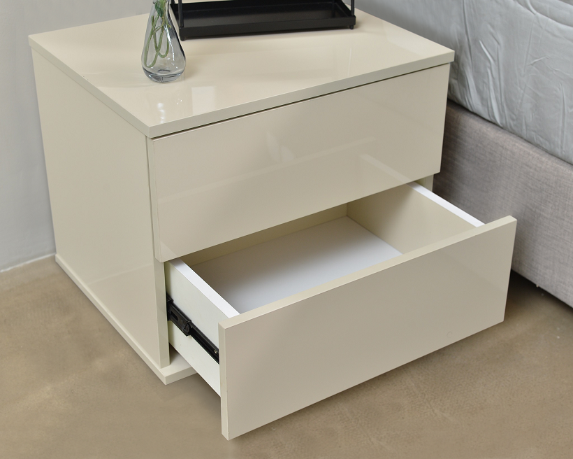 Jupiter bedside table, high gloss khaki