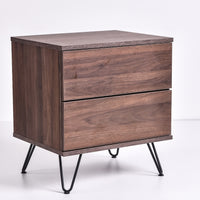 Corva bedside table, columbia walnut