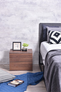 Jupiter bedside table, columbia walnut