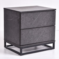 Margo bedside table, grey stone