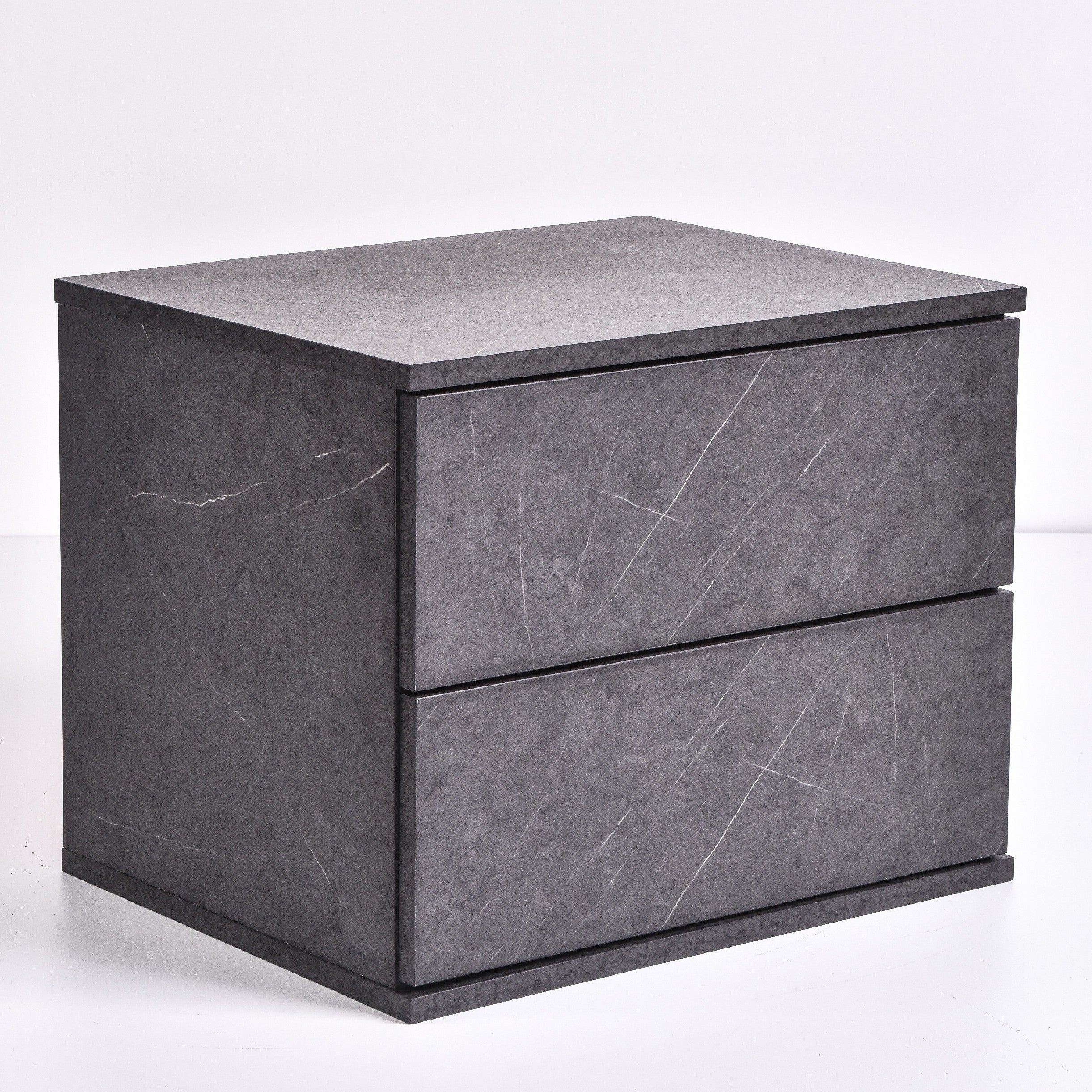 Jupiter bedside table, grey stone