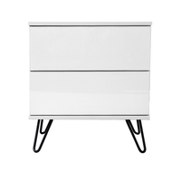 Corva bedside table, white