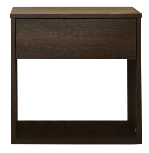 Emma basic 1 drawer bedside table, antico wenge