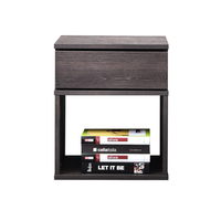 Baria bedside table, antico wenge