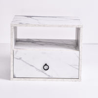 Roco Bedside Table,Marble