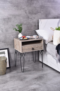 Chloe Bedside Table, Alaska Oak