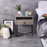 Fredo Bedside Table, Alaska Oak