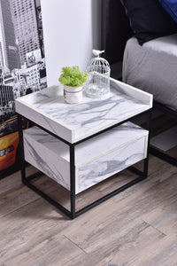 Magino Bedside Table, Marble