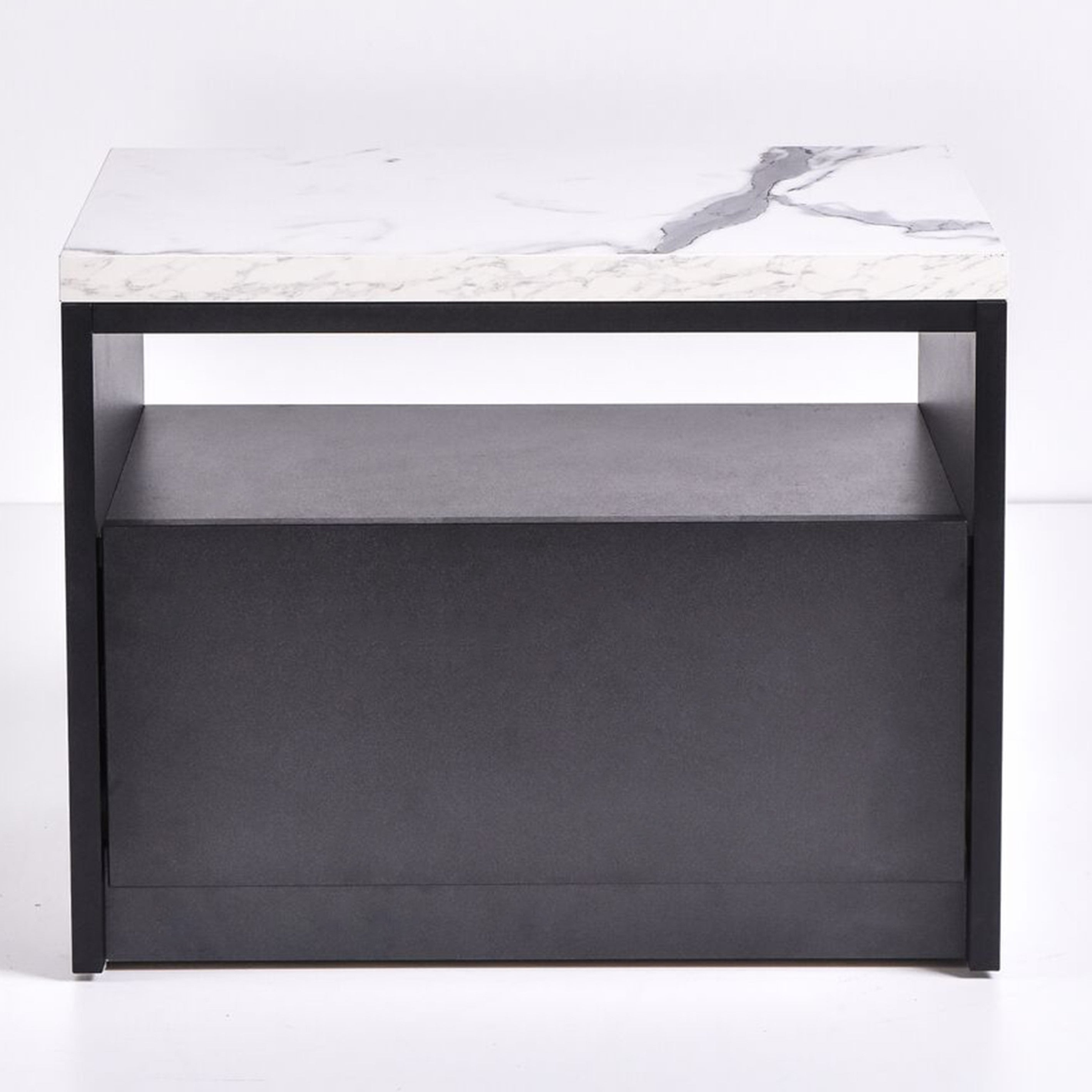 Tanix Bedside Table, Marble