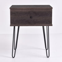 Ashe Bedside Table, Antico Wenge