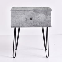 Ashe Bedside Table, Iron Slate
