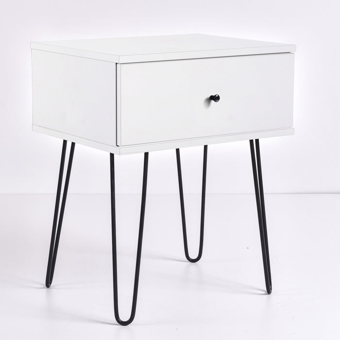 Ashe Bedside Table, White