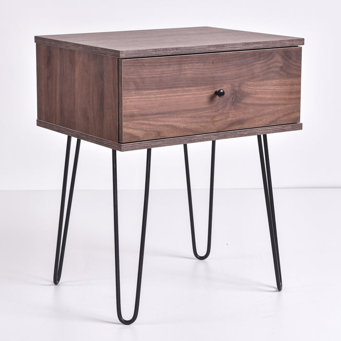 Ashe Bedside Table, Columbia Walnut