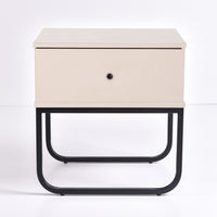 Mitra Bedside Table, UV Khaki