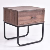 Mitra Bedside Table, Columbia Walnut