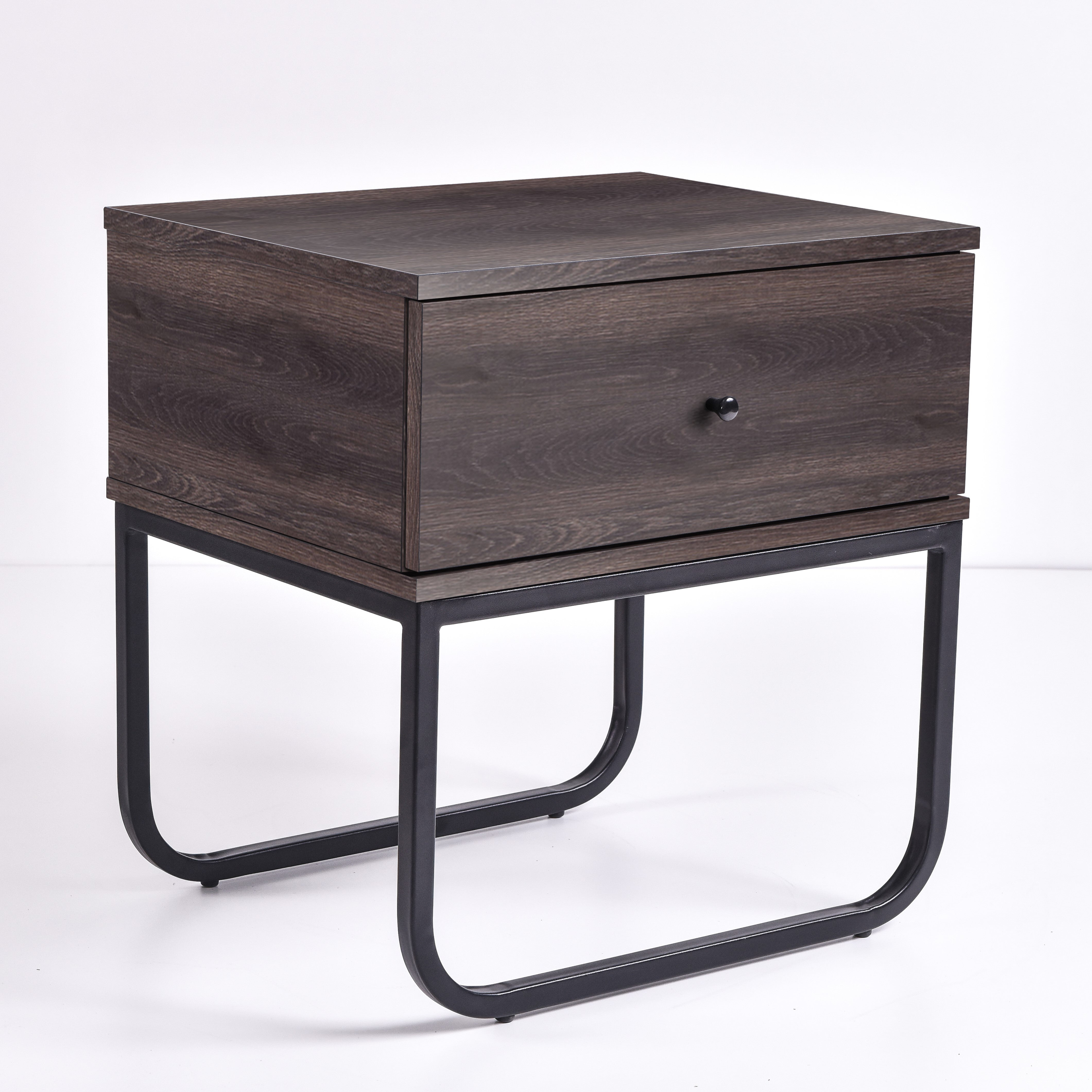 Mitra Bedside Table, Antico Wenge