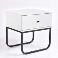 Mitra Bedside Table, White