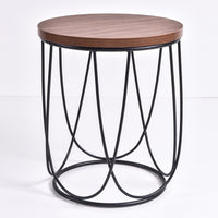 Lencia Side Table, columbia walnut