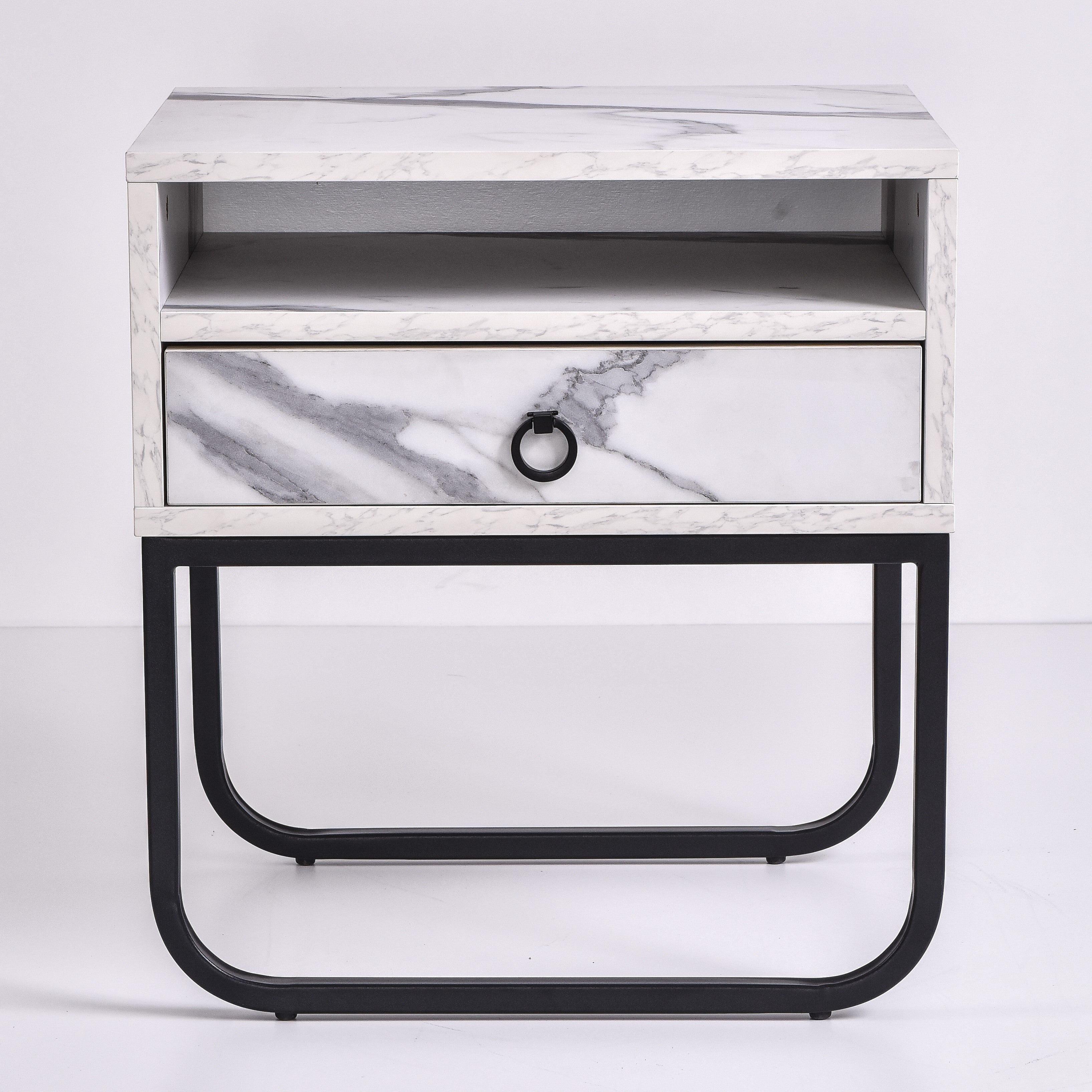 Innis Bedside Table, Marble