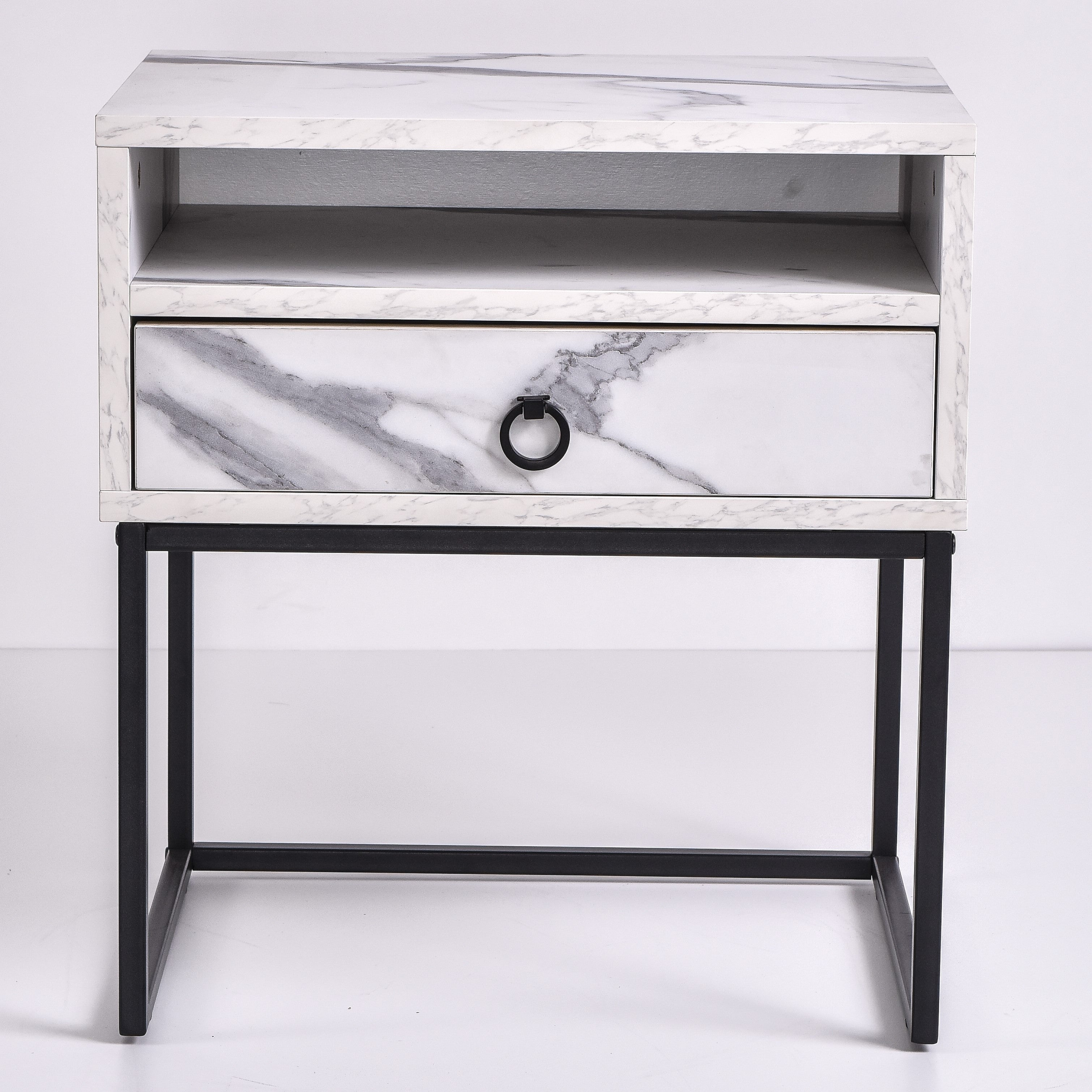 Dana Bedside Table, Marble